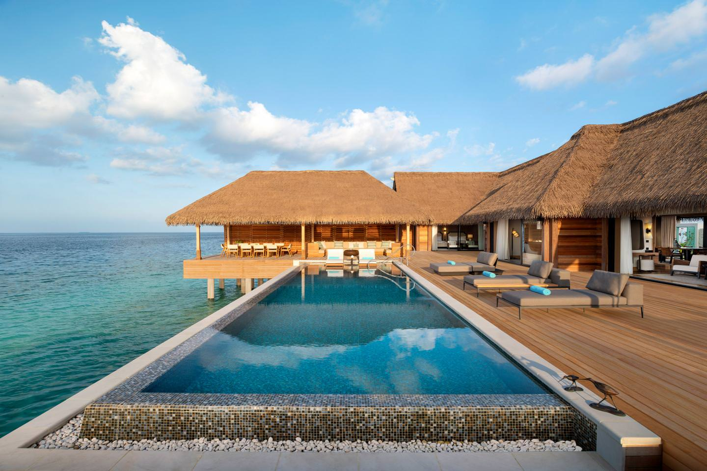 Wami Villa Two And Three Bedroom Reef And Overwater Villa   Pool
